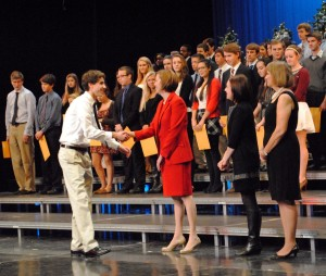 National Honor Society induction ceremony slideshow