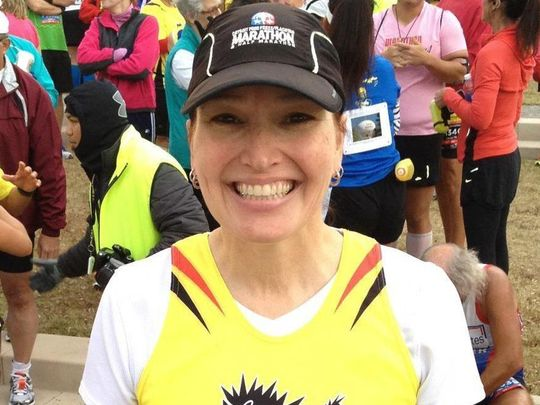 Montgomery, as seen after finishing her 50th marathon. Photo provided by Diane Montgomery.