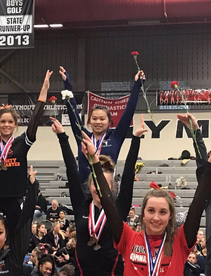 Senior wins big at gymnastics meet