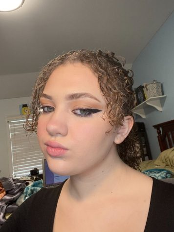 My first makeup look of the challenge, I did the most voted-for look.