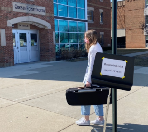 """Orchestra director Noah Zogas encourages new students to get involved in the band and orchestra programs. """"It is never too late to start playing,"""" Zogas said. """"If you are motivated, reach out to me, a counselor, or a friend in the instrumental music program, and you can experience the excitement of music, too."""""""