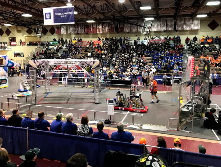"""""""Our competition season last year was very brief, we attended one competition at Milford High School, and I remember at the end the top teams would usually go up and shake hands with the judges, but we were only allowed to bump elbows,"""" Barber said."""