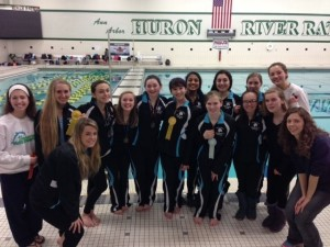 Synchronized swimming places at states