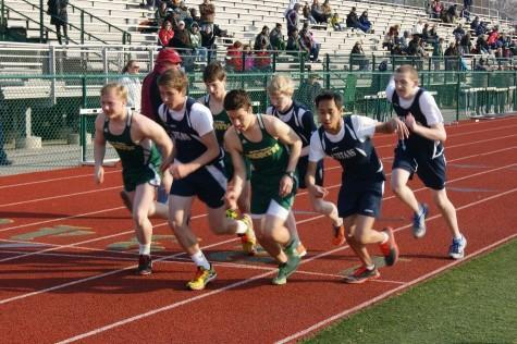 Girls and Boys track against Stevenson