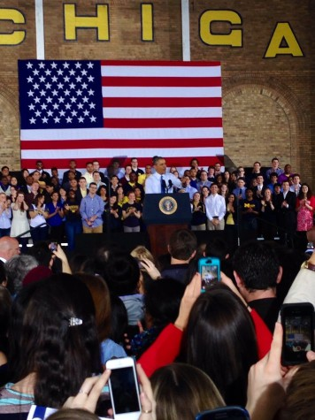 President Obama delivers speech at U of M
