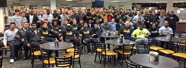 Photo provided by Coach Gary Pinkel's Twitter.