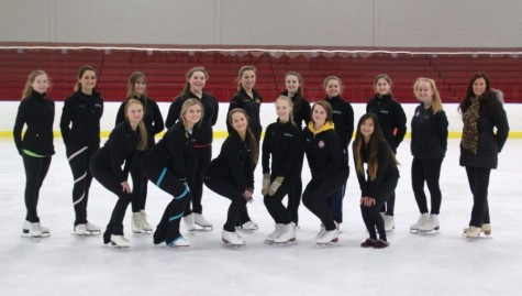 Last year's figure skating team under coach Claire LaDue.