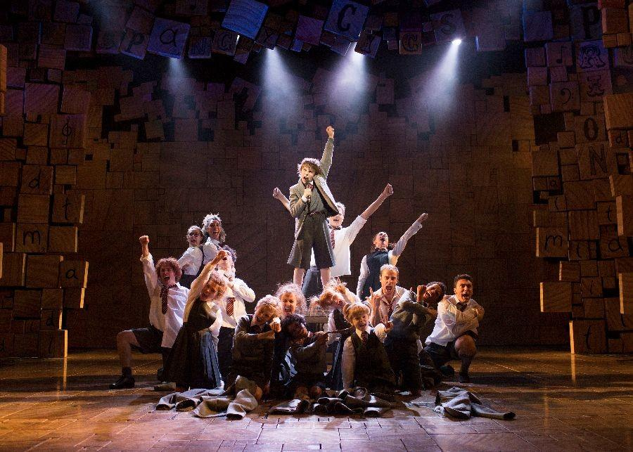 A scene from Matilda the Musical which is playing at Fisher Theatre this week.