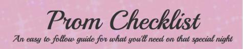 Prom checklist