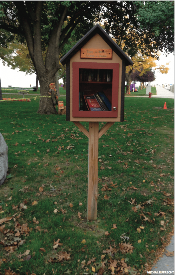 TAKE ONE, LEAVE ONE   The Free Little Library at Grosse Pointe Shores Park is open for anyone to borrow or donate a book.