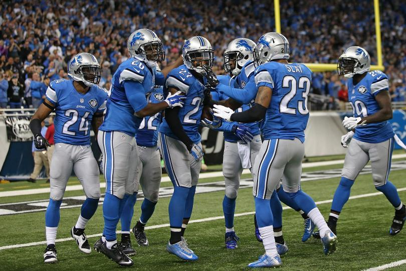 Many of the defensive players celebrate a stop in endzone at a home game this season.