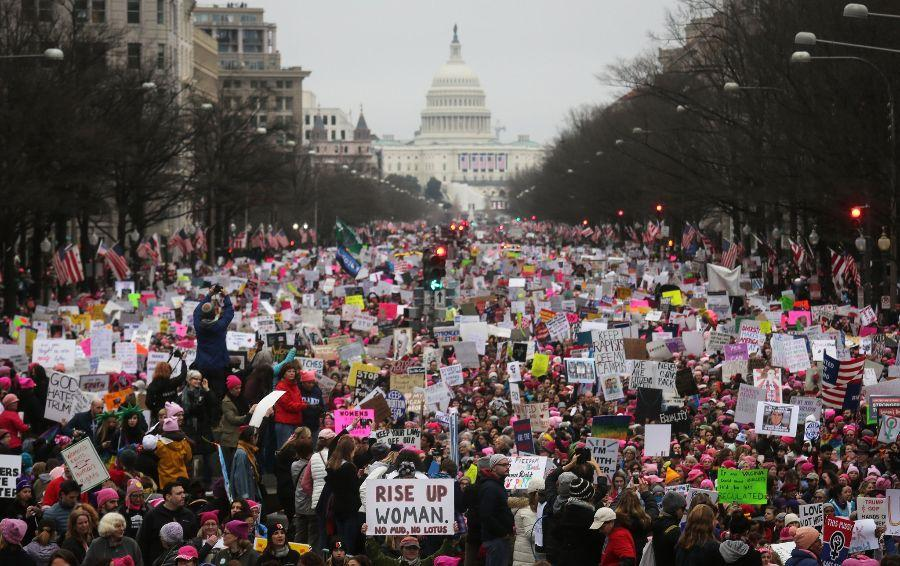 People met in Washington D.C. for the March on Washington on Saturday, Jan. 21