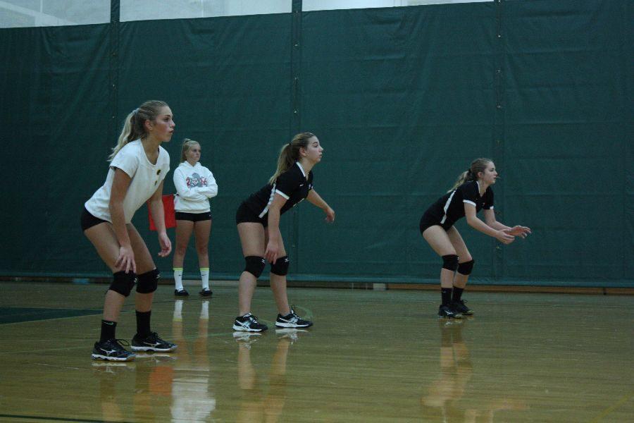 Freshmen+Volleyball+against+Romeo+high+school