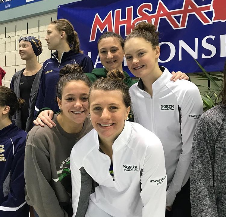 Freshman+Victoria+Treder%27s+teammates+pose+for+a+picture.+%22I+was+just+really+excited+to+be+there%2C%22+Treder+said.+%22There+were+a+lot+of+amazing+swimmers+from+the+other+teams+and+from+ours%2C+too.+It+was+just+a+great+experience.%22