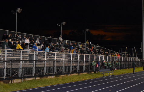 """Senior Louis Randazzo was one of the few students at the game. He said the regulations made the game feel very different from previous ones. """"They were very boring with no student section and it just didn't feel as hype with not a lot of people there,"""" Randazzo said."""